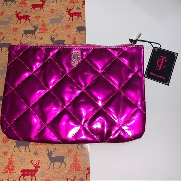 Juicy Couture Hot Pink Makeup Bag